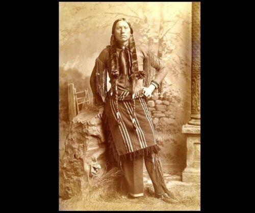 Comanche Chief Quanah Parker PHOTO, Native American Indian Warrior c1890