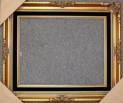 Gold Ornate Black Liner Wedding Studio Portrait Picture Frame B5GB