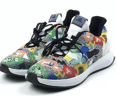 adidas x Star Wars Cloudfoam Shoes White Multi Color Size 5y Youth BY3027 Kids (Youth White Multi Kids Shoes)