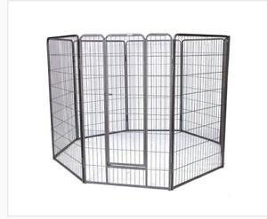 High 8 Panel Heavy Duty Metal Pet Dog Exercise Playpen Cage Dog Fence