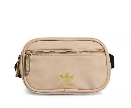 Women Adidas Originals Waist Fanny Pack Faux Suede Soft Pink