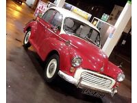 1958 MORRIS MINOR RED/IVORY TOP PROJECT/PERSONAL