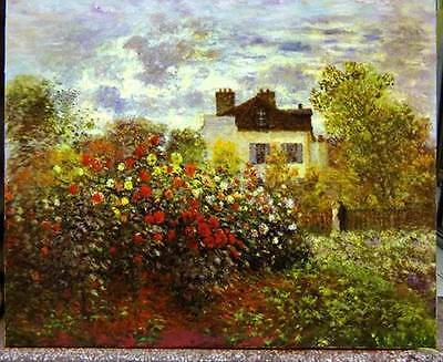 Ölbilder Ölgemälde Gemälde Monet: Garden at Argenteuil 1873-60x80cm