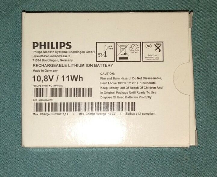 Philips M4607A MP2/ X2 Rechargeable Battery 11.1V 1Ah Lithium Ion