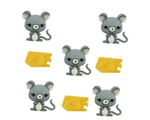 Mice & Cheese Buttons Jesse James Dress It Up Embellishment Collection