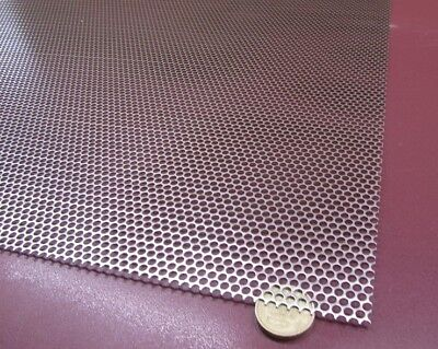 Perforated Staggered Steel Sheet .036 Thick X 24 X 24 .140 Hole Dia.