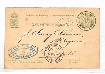 VV18 1890 Luxembourg Stationery Postcard PTS