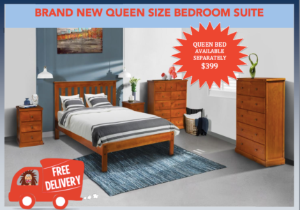 BRAND NEW Queen Bed SUITE - DELIVERED FREE