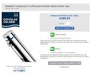 Delabie Tempomix 3 soft push button basin mixer tap