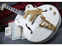 MINT! GRETSCH G7593T WHITE FALCON JAPANESE & ORIG CASE & CERTIFICATE
