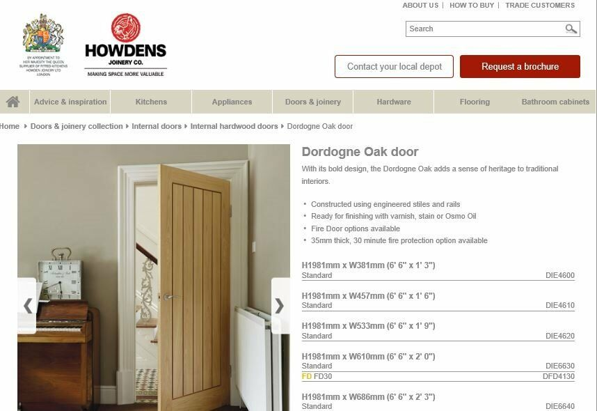 Brand New Howdens Hard Wood Internal Door Cost 120 In Whitefield