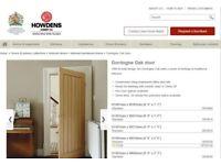 Brand New Howdens Hard Wood Internal Door Cost £120