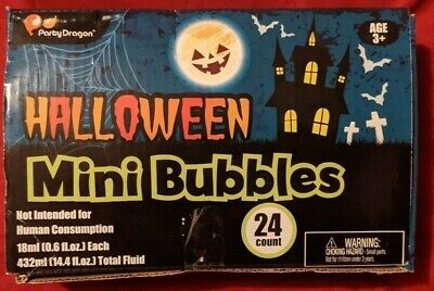 Halloween Party Glow Mini Bubbles 24 Pack New - Halloween Glow Pack
