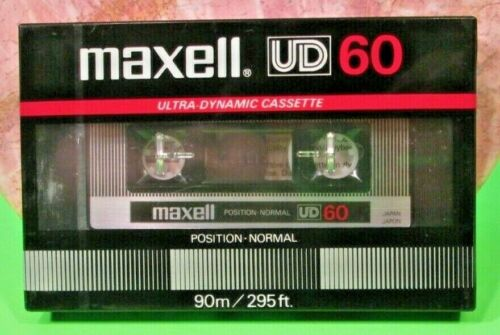 MAXELL UD 60 Blank Ultra Dynamic Sealed Cassette Tape 90M/295Ft New Made Japan