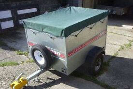'Caddy 430' Camping / General Purpose 3ft x 4ft Trailer - Extended sides & tarpaulin cover