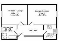 Large 1 bed Apartment for investor giving 7% yield - with great upgrade potential.