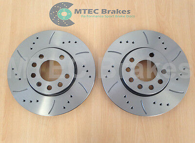 VECTRA C 285mm DRILLED GROOVED BRAKE DISCS Front
