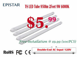 2Ft T8 LED Tube,6000K