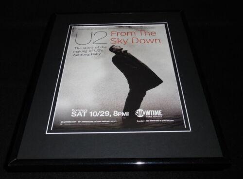 2011 U2 From the Sky Down Framed 11x14 ORIGINAL Advertisement