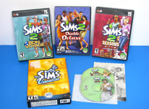 THE SIMS 2 PC GAME & EXPANSIONS LOT SEASONS VACATION UNIVERSITY
