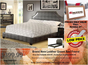 ◆Brand New Modern Leather Kg/Qn/Db Bed Frame on Sale@NEWD