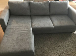 Convertible sofa with lounge