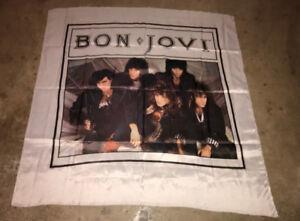 "Bon Jovi 1980's Rock Flag 45"" x 45"" RARE!! Vintage 1987"