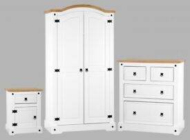 White bedroom set - brand new