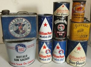Wanted oil & grease cans in North star & Buffalo