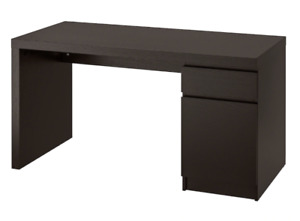 IKEA MALM DESK, BLACK-BROWN - PERFECT CONDITION