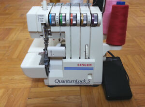 Singer 5 threads serger with differential feed like new
