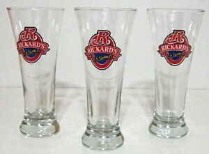 SET OF 3 RICKARD'S 10 OZ. BEER GLASSES (NEW)
