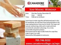Soap making, Canadore College, Parry Sound