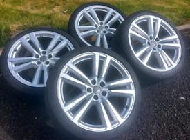 "Genuine Audi 20"" S Line Alloys with 255 x 35 tyres"