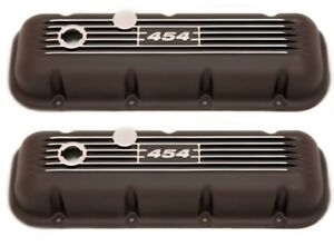 BBC V/8 Black Finned Aluminum Valve Covers.