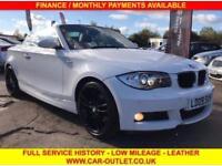2009 09 BMW 1 SERIES 120I 2.0 M SPORT 2DR 168 BHP-LEATHER-FSH-2KEYS