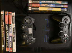 Play Station 2 with 7 games and 2 controllers