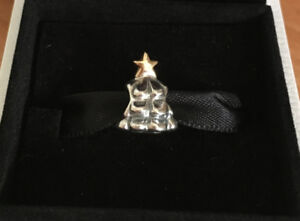 NEW - AUTHENTIC PANDORA TWO TONE SILVER CHRISTMAS TREE