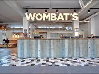 wombats Hostel London is hiring SIA certified Security (part time)