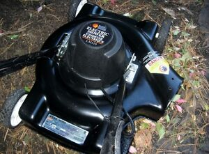 1 year old electric lawnmower