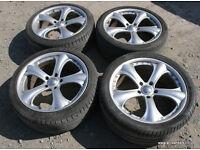 """BMW E90 E91 F30 D-Corsa 19"""" Alloy Wheels VGC Tyres 5x120 VW Transporter Vivaro"""