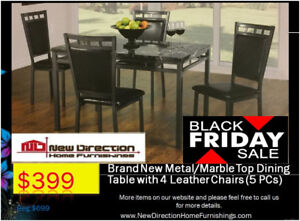 Black Friday Sale Starting Now★ Brand New Dining Table+4 Chairs★