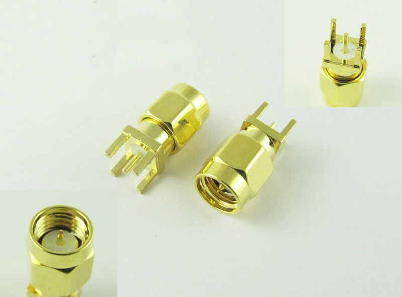 10pcs Gold SMA Female Jack Solder PCB Board Mount Straight RF Connector Adapter
