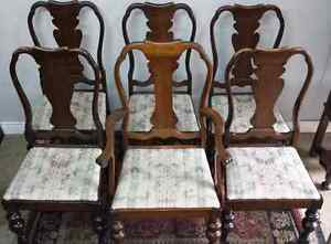 Antique Walnut Dining Room Chairs * Delivery Available *