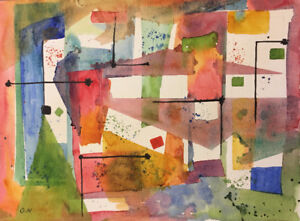 Original Watercolor Painting in Abstract Style (#1709)