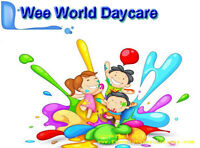 WEE WORLD DAYCARE:  Has full time spaces available