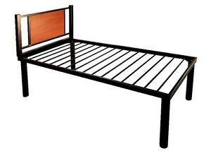 Single Bed Frame - Black and Cherry
