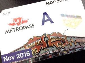 TTC metropass - November