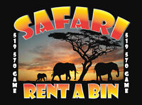 Is your space getting too full? Call Safari rent a bin