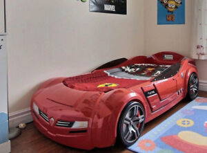 CILEK CAR BED FOR KIDS - Store Price: $3200+tax KID BED MATTRESS